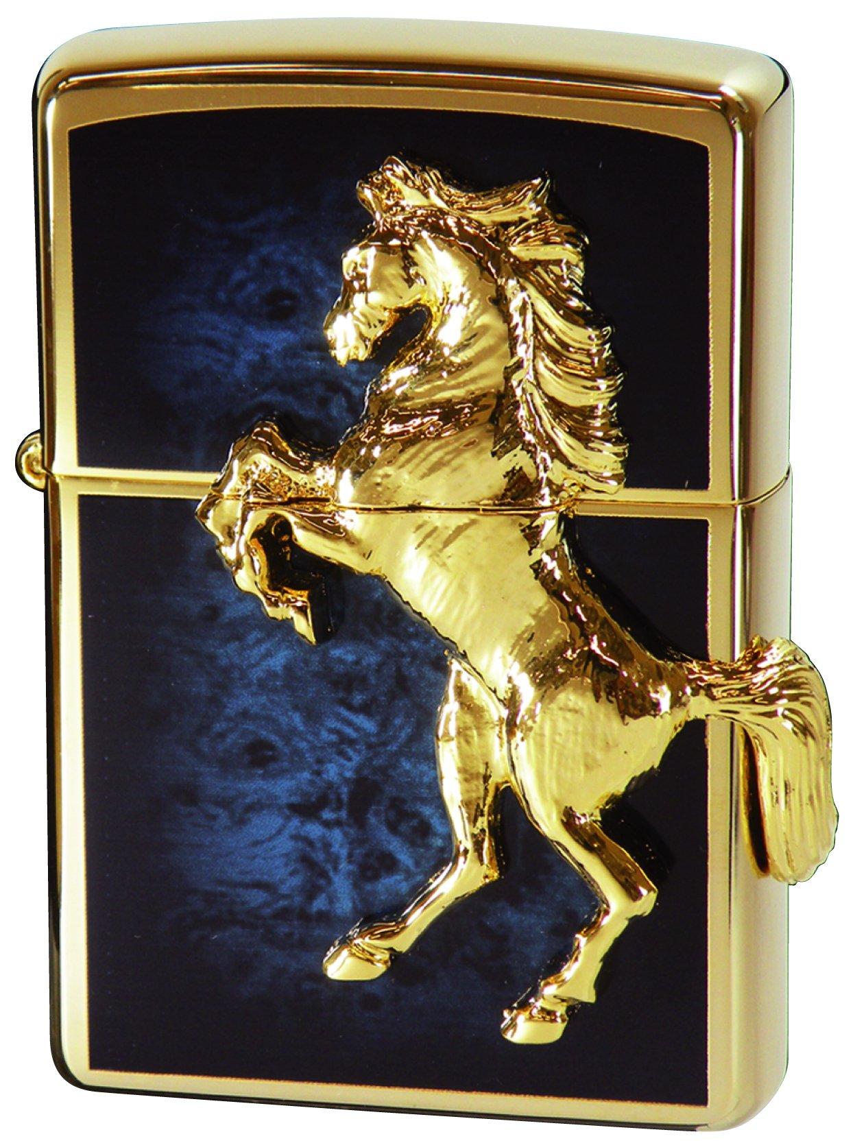 Zippo Winnie Winning Gold Plate Blue