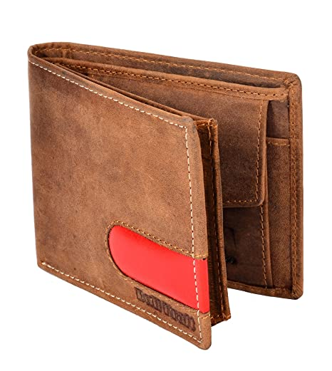 BULL KRAFT Stylish Stitch Design Genuine Leather Wallet for Men/Boy  Card Slot   8, Tan  Wallets