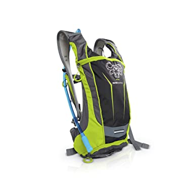 Mountain Biking Hydration Backpack - The Endeavor by Water Buffalo – Light 2L Hydration Pack & BPA Free Pouch – Durable, Purpose-Built Bag for Bike, Day Hike, Running, and Cycling Back Packs