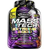 MuscleTech Mass Tech 100% Whey Protein Mass Weight Gainer Powder - Triple Chocolate Brownie Flavour, 7lbs (3.2kg)