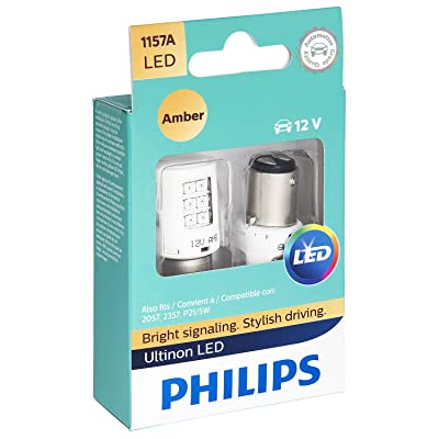 Philips 1157 Ultinon LED Bulb (Amber), 2 Pack: Automotive
