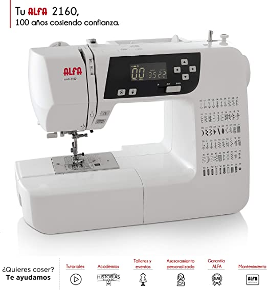 Alfa Modelo 2160-Maquina de Coser electrónica, 60 Puntadas: Amazon.es: Hogar