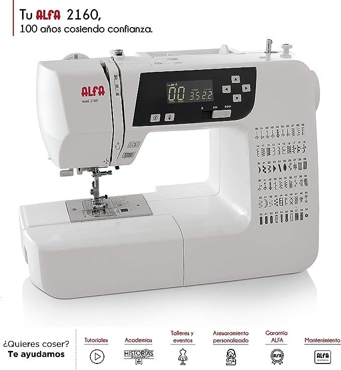 Alfa Modelo 2160-Maquina de Coser electrónica, 60 Puntadas: Amazon ...