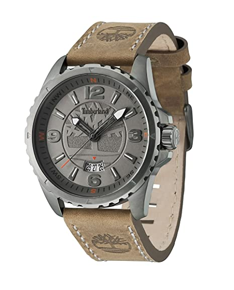 Amazon.com: Timberland 14531JSU-13 Mens Walden Brown Leather Strap Watch: Timberland: Watches