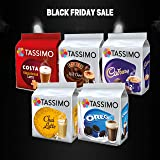 TASSIMO Hot Chocolate and Latte Bundle 5 Pack, (40 Drinks)