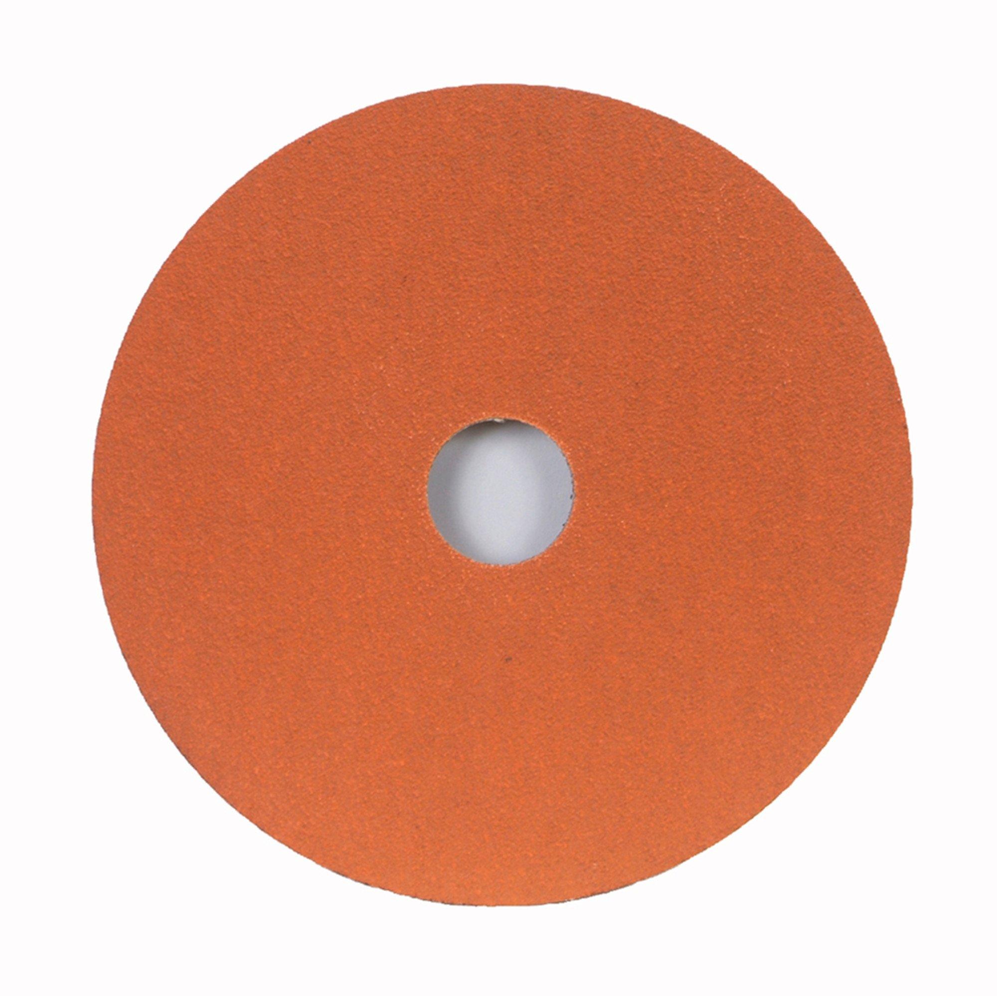 Norton SG Blaze F980 Abrasive Disc, Fiber Backing, Ceramic Aluminum Oxide, 7/8'' Arbor, 9-1/8'' Diameter, Grit 24 (Box of 25)