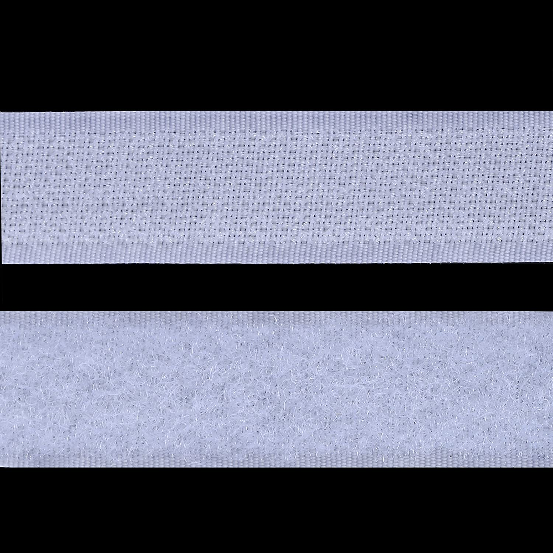 Gimars Velcro adhesivo ancho 20mm Blanco 8M Velcro adhesivo tela doble cara Fijaci/ón segura para trabajos manuales y de bricolaje Equipado con cierre con hebilla para organizar