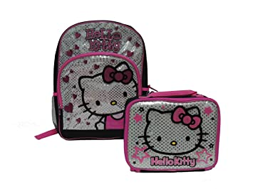 5d9f1a2482 Image Unavailable. Image not available for. Color  Hello Kitty Large  16 quot  Backpack with Lunch Bag