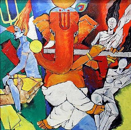 Tallenge Abstract Art Mangalmurti Ganpati Vinayak
