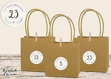 DIY Calendario de Adviento Asa bolsas Fuerza