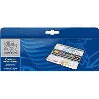 Winsor & Newton Cotman Aquarellfarben Set Blue Box, 12 Wasserfarben in 1/2 Näpfen