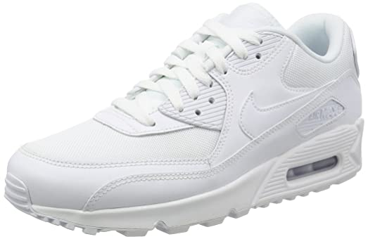 Nike 537384-111 Men's Air Max 90 Essential Running Shoes, White/White,