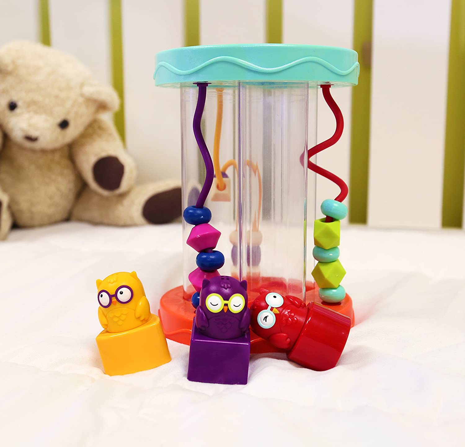 Educational Toy for Toddlers /& Babies 3 Owls Hooty-Hoo toys by Battat Fun Game B Bead Maze /& Wacky Sounds 3 Colorful Shapes 6 x 6 x 8.12 Shape Sorter Multicolor