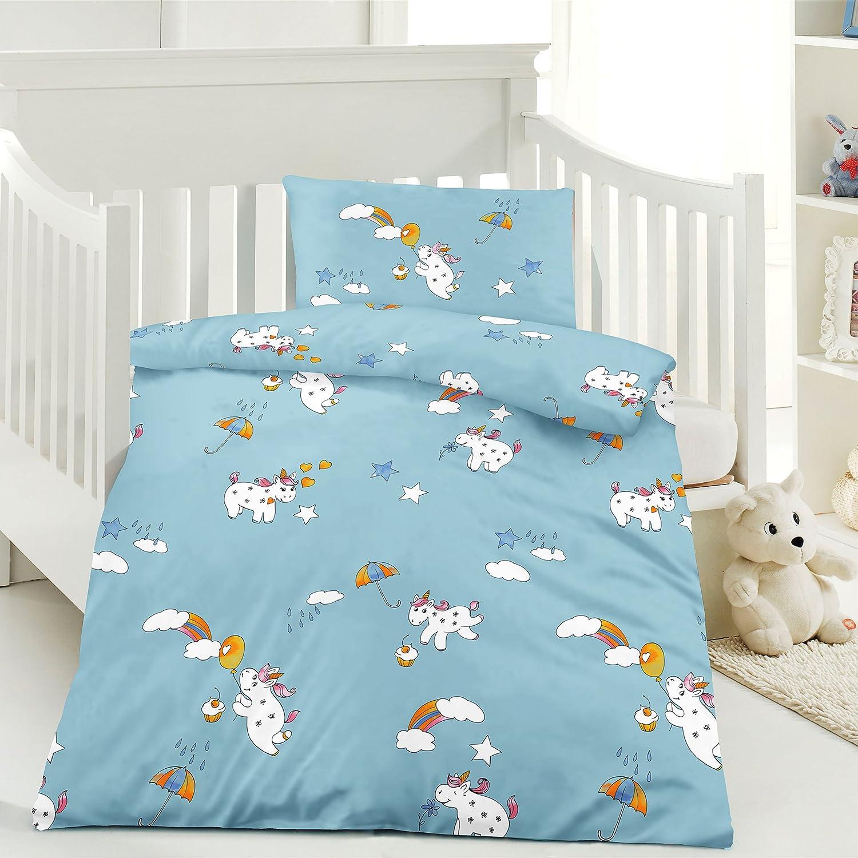 Babybettw/äsche 100x135 cm Kinder Bettw/äsche Robbie 40x60 cm 100/% Baumwolle in verschiedenen Designs