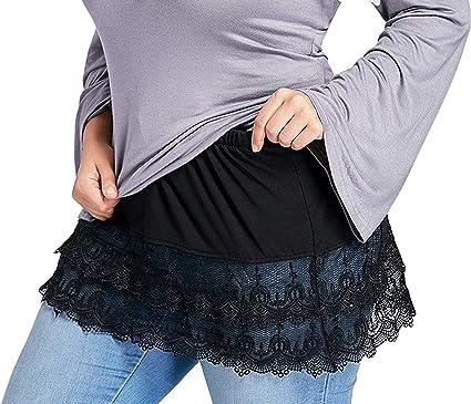 Skirt Half Length Splitting A Version Mini Skirt Shirt Extenders Adjustable Layering Fake Top Lower Sweep