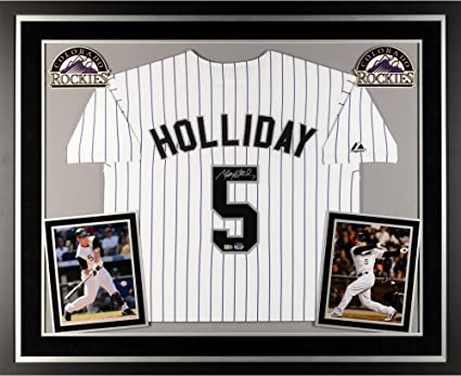 Matt Holliday Colorado Rockies Deluxe Framed Autographed White ...