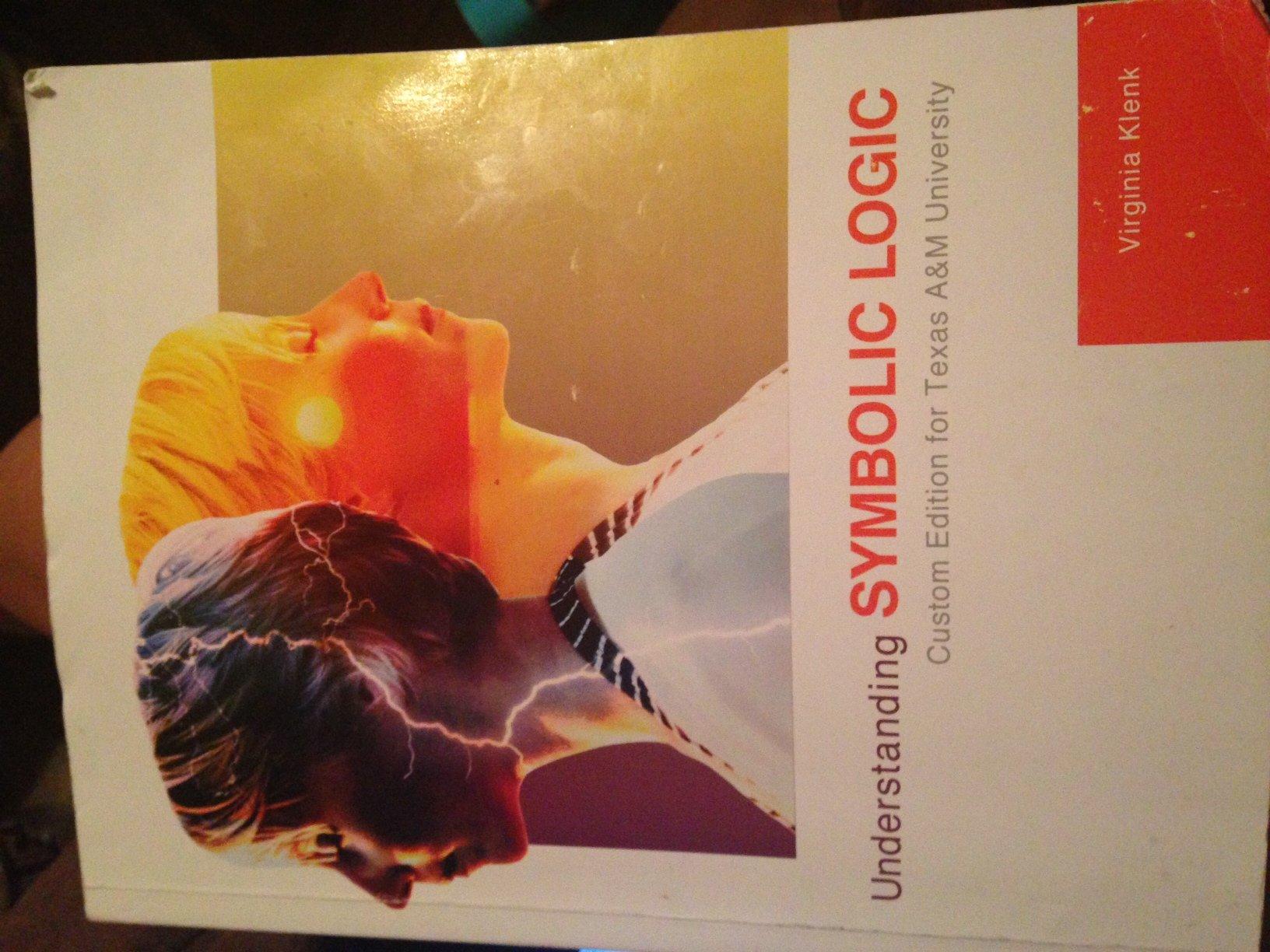 Understanding Symbolic Logic Virginia Klenk 9781256777090