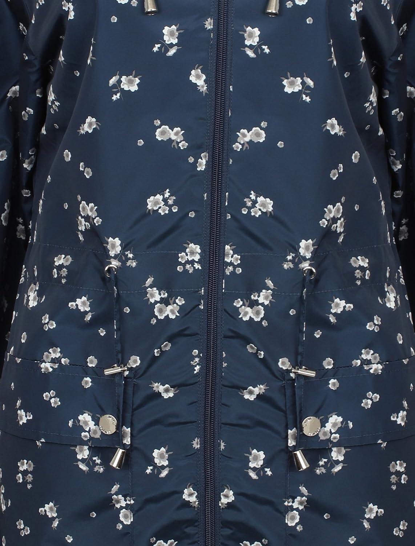 Tokyo Laundry Womens Fusion Showerproof Raincoat Ladies Windbreaker Longline Jacket Navy