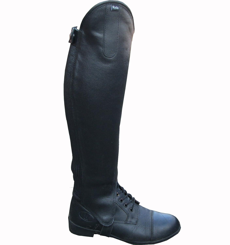 Guêtres Ryda en cuir véritable pour femmes jambières d'équitation