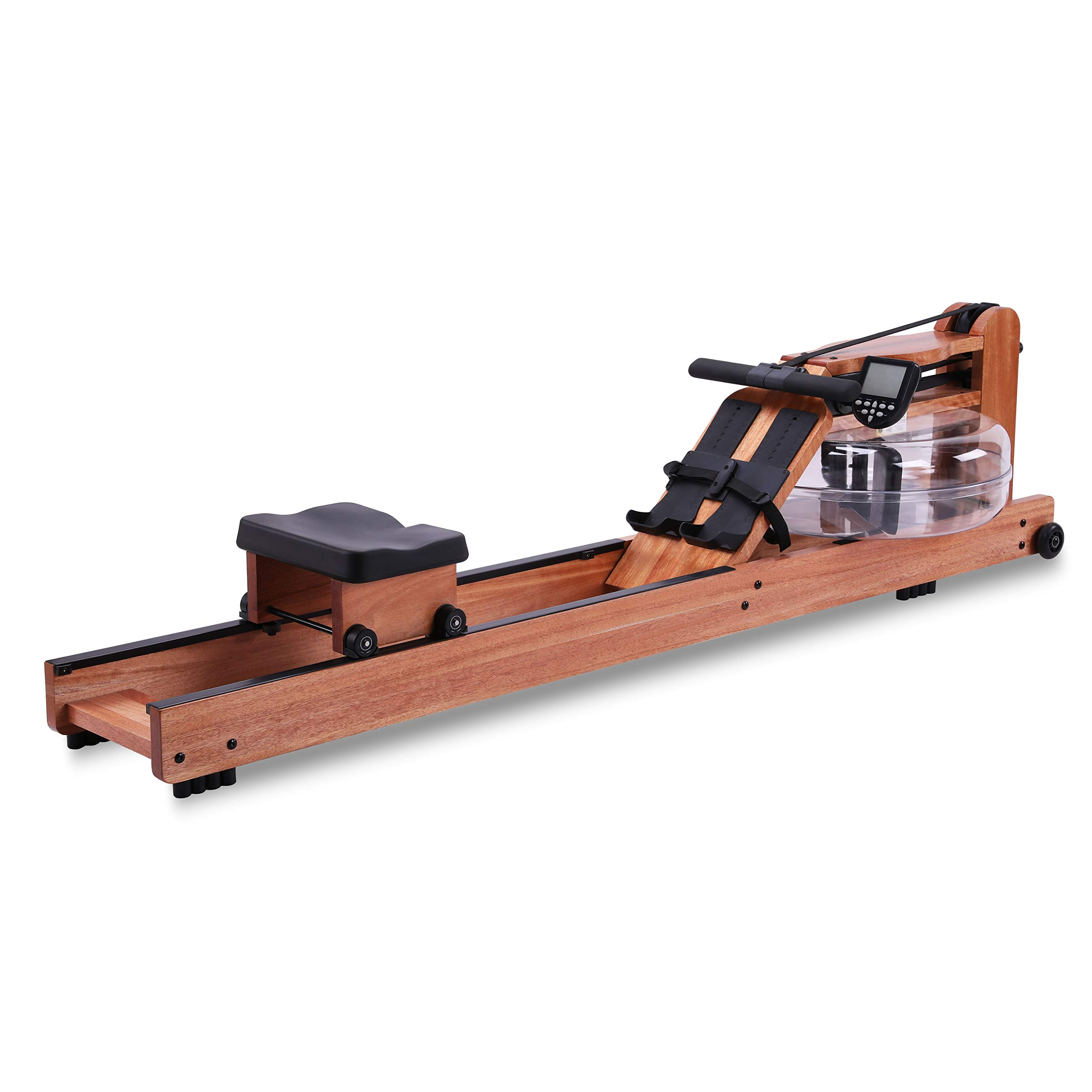 BATTIFE Water Rowing Machine Red Walnut Wood with Monitor Home Gyms Fitness Indoor Use by BATTIFE
