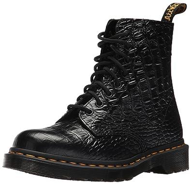 Dr. Martens Women's Pascal Croc Ankle Boot, Black, 3 Medium UK (5