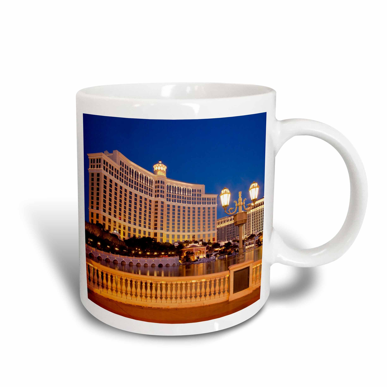 3dRose (mug_145032_2) Bellagio Hotel and Casino, Las Vegas, Nevada, USA - US29 BJN0005 - Brian Jannsen - Ceramic Mug, 15-ounce