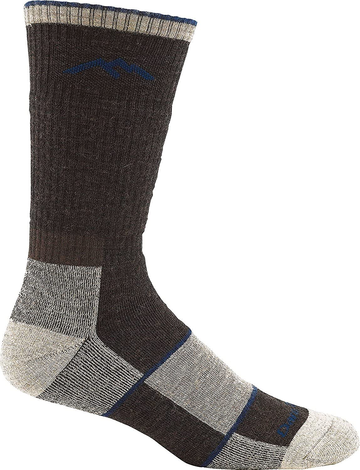 Darn Tough Men's Hiker Book Sock Full Cushion (Style 1405) Merino Wool, Chocolate (X-Large 12.5-14.5) - 6 Pack