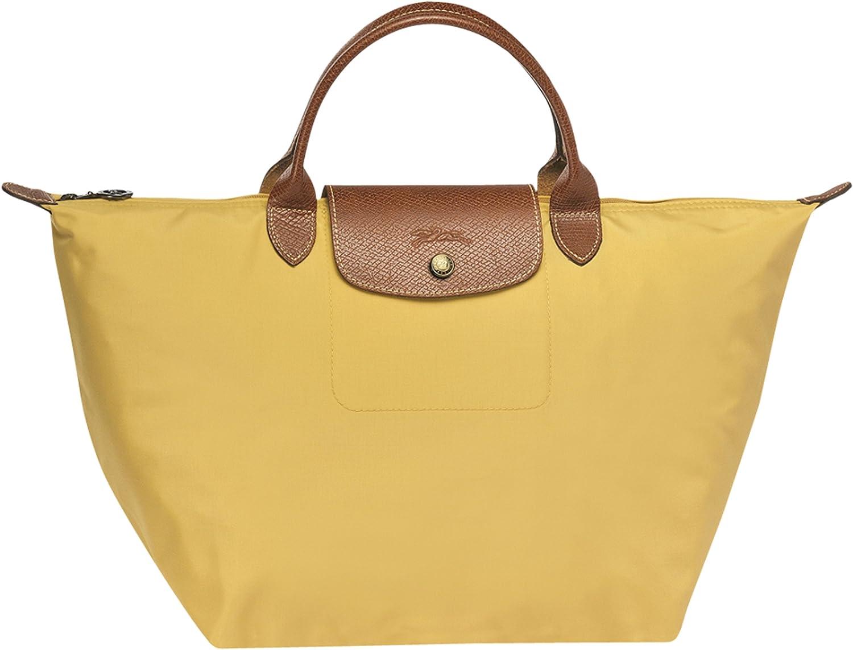 sac porté main curry Pliage Longchamp taille M dim.30 x 28 x