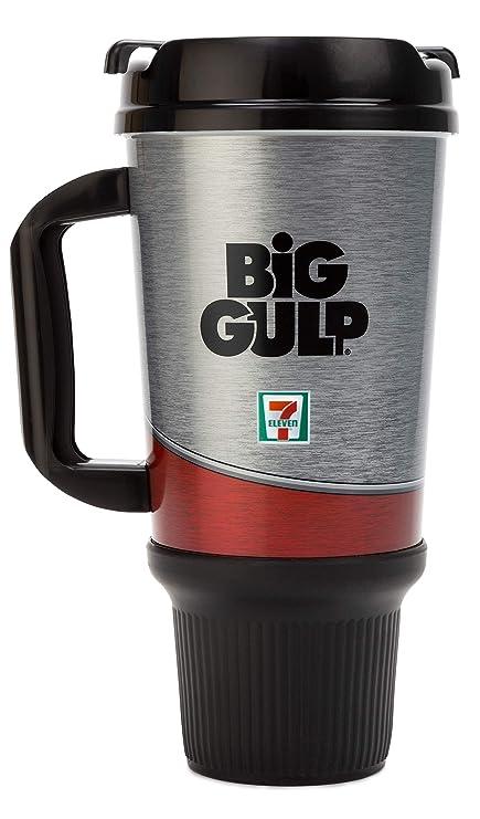 54923ecf6d3 Amazon.com: 7-Eleven Big Gulp Insulated Travel Mug (32 oz, Silver ...