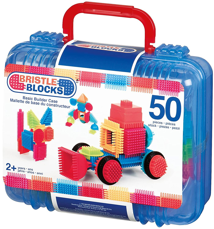 Bristle block 50 piece Basic builder case with handle   B00B16U3KO