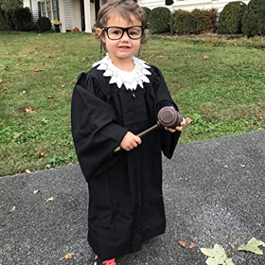 Amazon.com: Judge Halloween RBG Costume, for Kids Ruth Bader Ginsburg Costume Accessories, Children's Supreme Court Justice Robe: Clothing