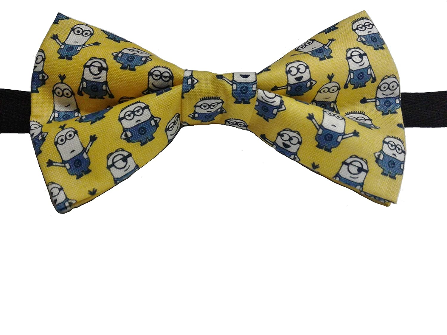 Minions Bow Tie Cotton Various Sizes Big and Tall, Adult, Children