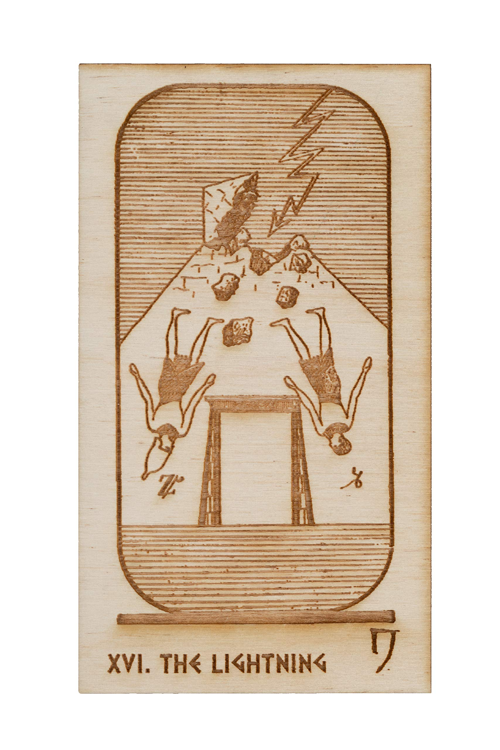 LumEngrave Wood Engraved Egyptian Tarot Deck Historically Accurate Early 20th Century Tarot Deck | 22 Card Major Arcana Egypt Gift Occult Gift Mystic by LumEngrave (Image #2)