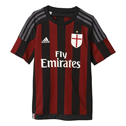 new style 7c6f6 73361 adidas AC Milan Home Kids Jersey 2015/2016