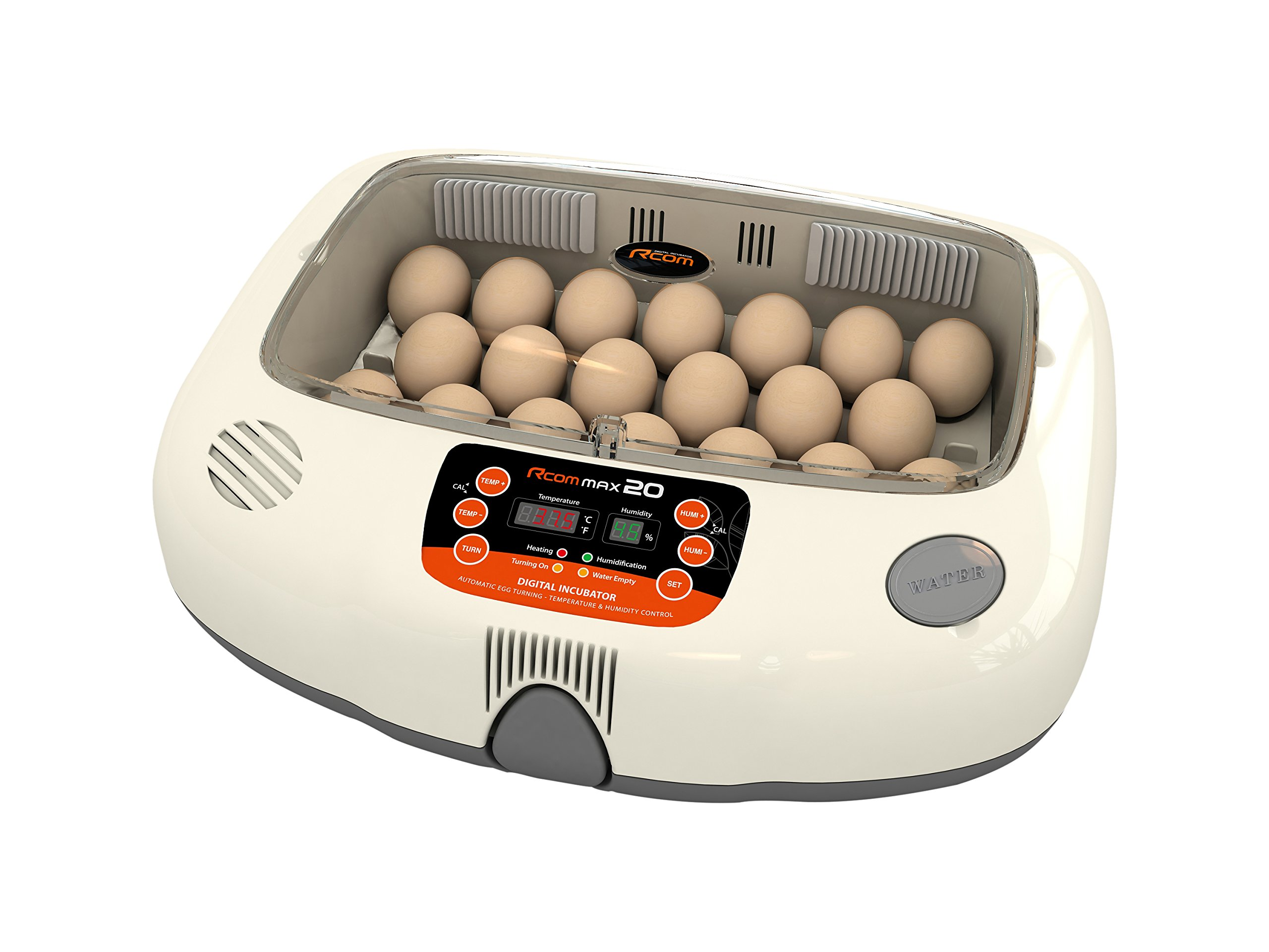 R-Com MX-20 Plastic/Metal Model Max 20 Automatic Digital Auto-Turning Egg Incubator