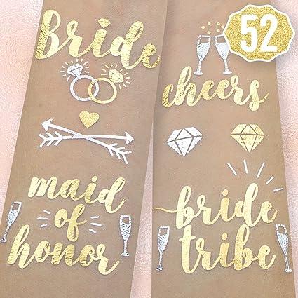 xo fetti bachelorette party flash tattoos bride tribe maid of honor 52