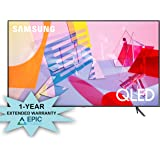 """Samsung QN85Q60TA 85"""" QLED Ultra High Definition Smart UHD 4K TV with an Additional 1 Year Coverage by Epic Protect (2020)"""