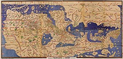 Huge Map Of The World.Amazon Com Huge Map Of The World Charta Rogeriana Weltkarte By
