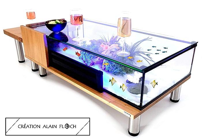 Table Basse Design Modulable 127 Cm 8 Pieds Acier