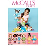 McCall's Patterns McCall Pattern 7582 OS, poupée et vêtements, Multi/couleur