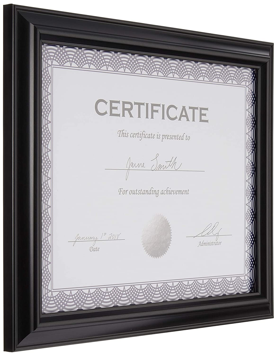 8.5 x 11 Basics Certificate Document Frame Without Mat Black 3-Pack