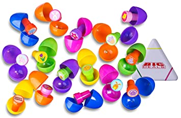 Amazon 15 easter eggs with toys inside filled with 15 easter 15 easter eggs with toys inside filled with 15 easter toy stampers surprise eggs negle Images