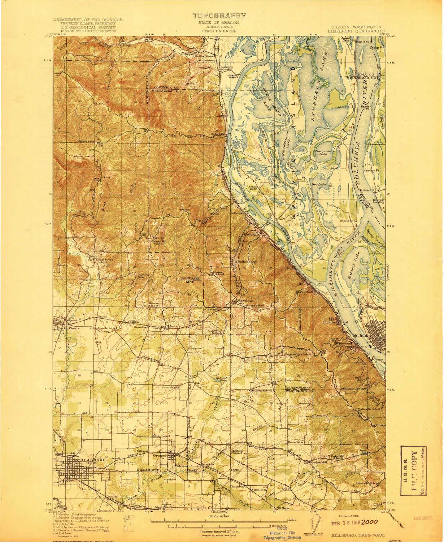 Amazon.com : YellowMaps Hillsboro OR topo map, 1:62500 Scale, 15 X ...