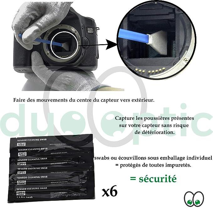 duooptic Kit Limpieza cámara Digital: 6 Swabs 16 mm Sensor Reflex ...
