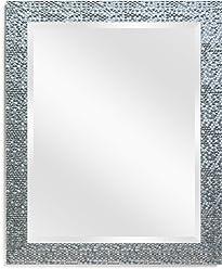 2488861122f5 Wall Beveled Mirror Framed - Bedroom or Bathroom Rectangular frame Hangs  Horizontal   Vertical By EcoHome