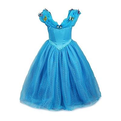 ReliBeauty Little Girls Princess Cinderella Costume Butterflies Maxi Fancy Dress: Clothing