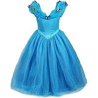 ReliBeauty - Robe - Fille - Princesse Cinderella Maxi 9189 Costume d'Halloween Cosplay Déguisement pour Fille Princesse Tenue Magnifique