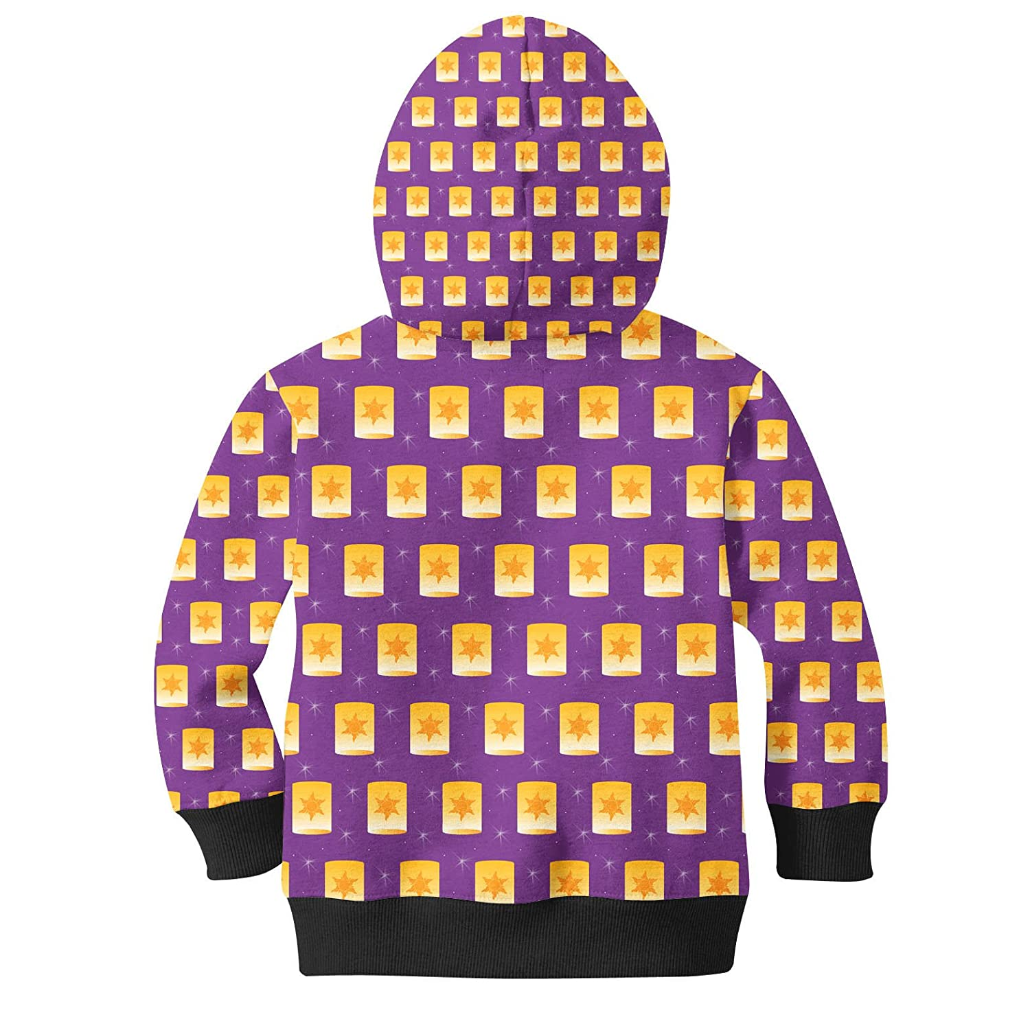Tangled Floating Lanterns Kids Zip Up Hoodie Unisex