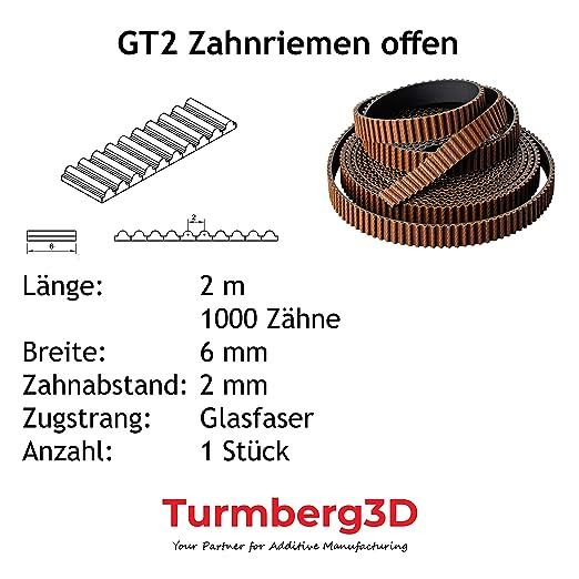 Rund GT2 Zahnriemen CNC6mm Breit 2mm Pitch 2GT für Riemenscheibe 3DPrinter