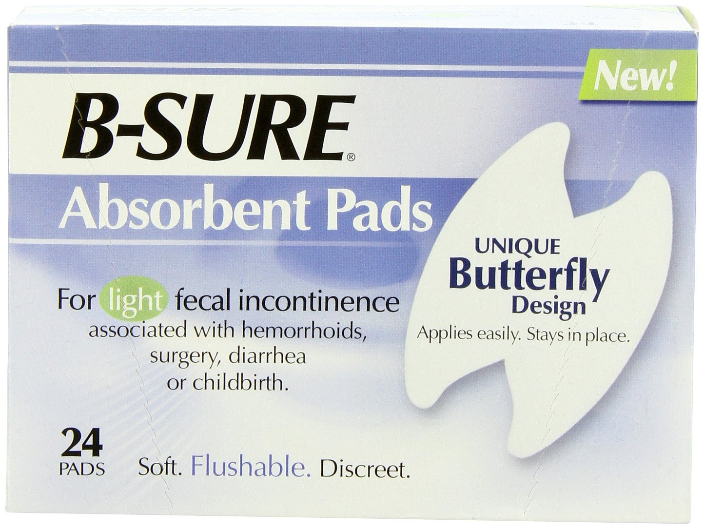 B-Sure Anal Leakage Pads, Box/24 Pads